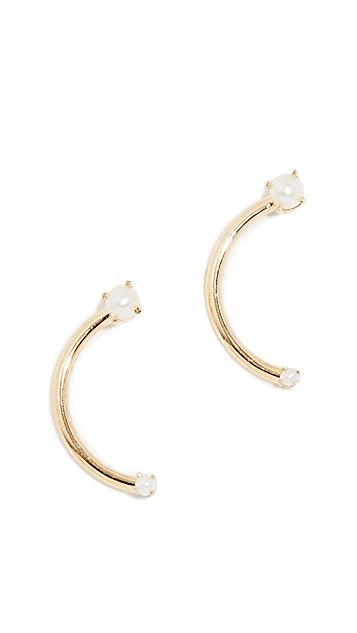 KatKim 18k 淡水养殖珍珠 Harpe 耳环