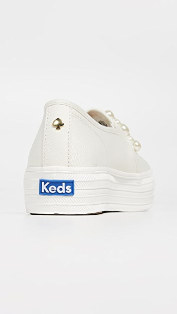 Keds x Kate Spade New York Triple 运动鞋