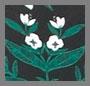 深色花朵印花