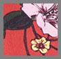 深红色花朵