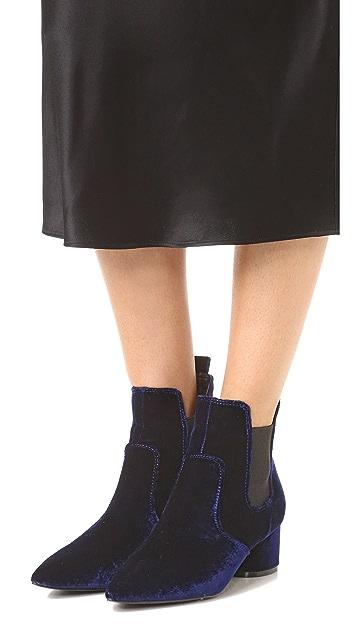 KENDALL + KYLIE Logan 天鹅绒短靴