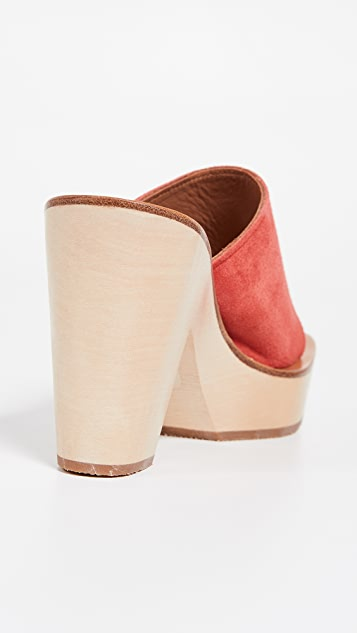 K. Jacques Ficus 厚底穆勒鞋