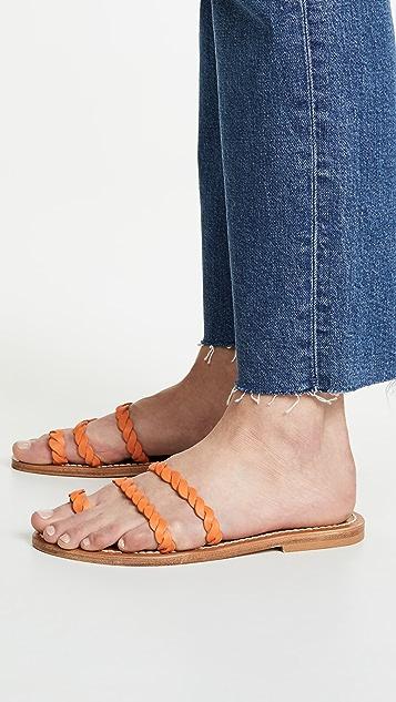 K. Jacques Thais 编织夹趾凉拖鞋