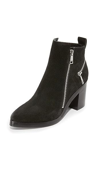 KENZO 拉链绒面革短靴