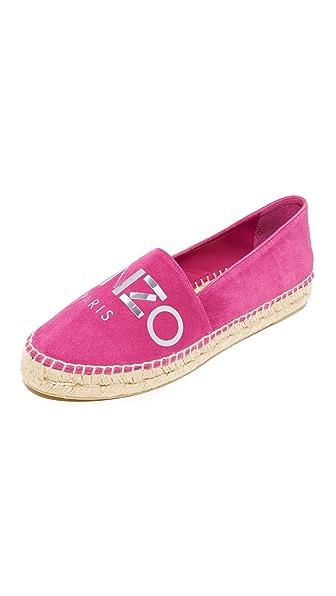 KENZO Kenzo Paris 编织底布面鞋