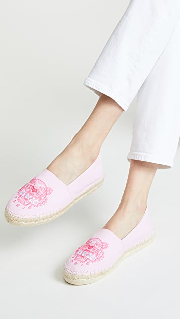 KENZO 经典老虎图案编织底便鞋
