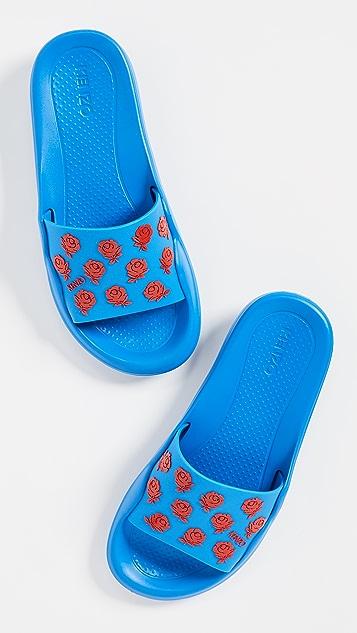 KENZO 花朵凉拖鞋
