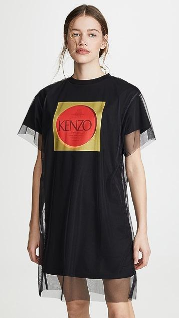 KENZO 双层 T 恤连衣裙