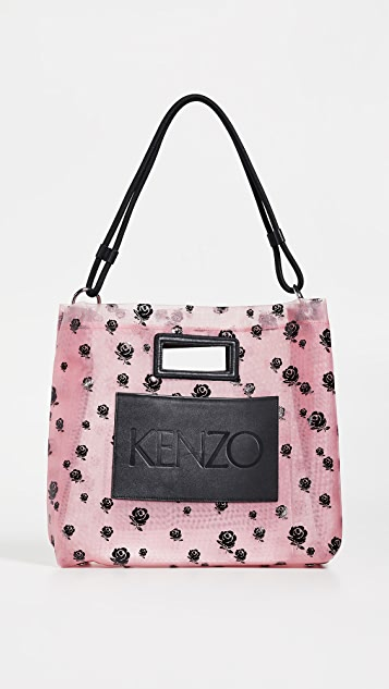 KENZO 网面玫瑰手提袋