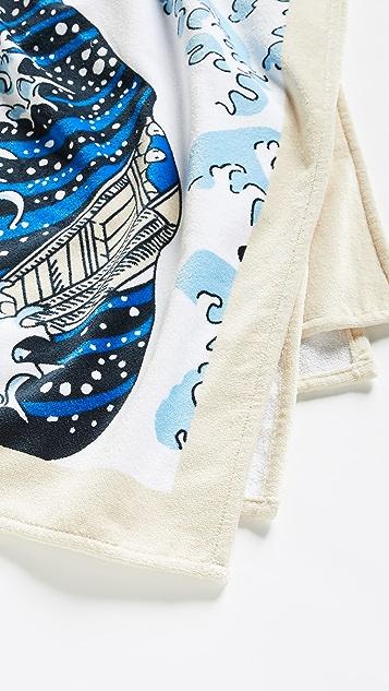 KENZO Kenzo Wave 海滩毛巾
