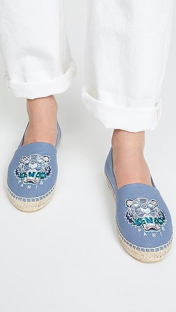 KENZO 经典虎头麻编鞋