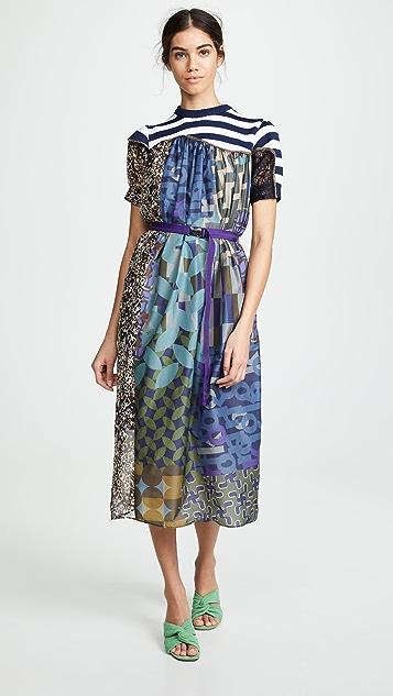 Kolor 拼接长连衣裙