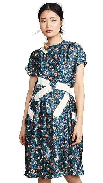 Kolor 拼接花朵连衣裙