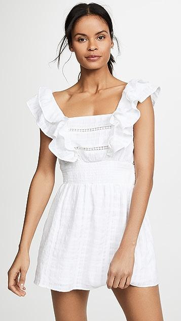 Kos Resort 白色圆孔连衣裙