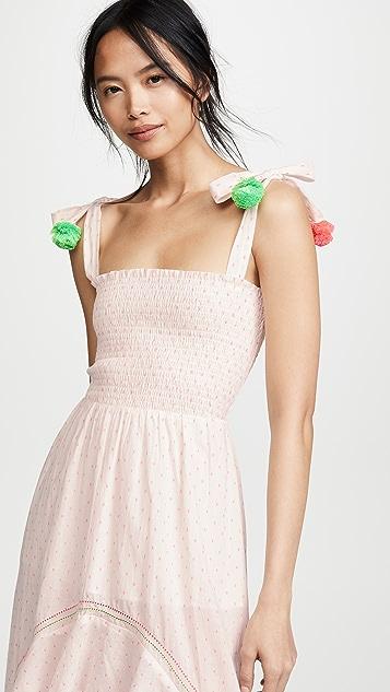 Kos Resort 绒球连衣裙