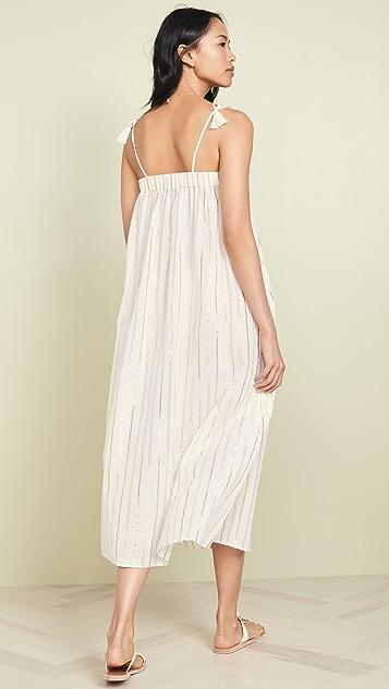 Kos Resort 金属色罩衫连衣裙