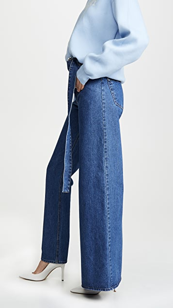 Ksenia Schnaider 不对称牛仔裤