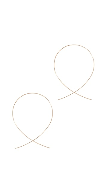 LANA JEWELRY 14K 大号倒置圈式耳环