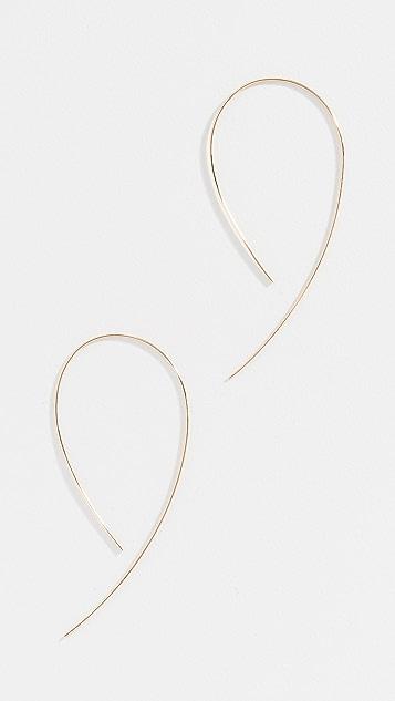 LANA JEWELRY 14K 钩形圈式耳环