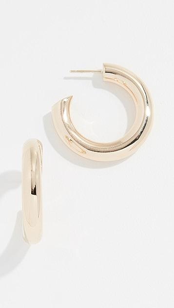 LANA JEWELRY 14k 20mm Royale Mega 圈式耳环