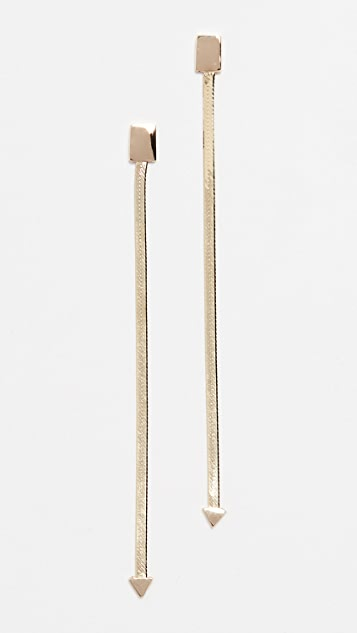 LANA JEWELRY 14k 金线形耳环