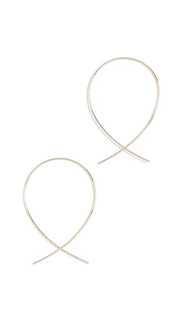 LANA JEWELRY 14K 倒置式小号圈式耳环