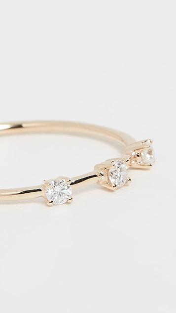 LANA JEWELRY 14k 圆形钻石戒指