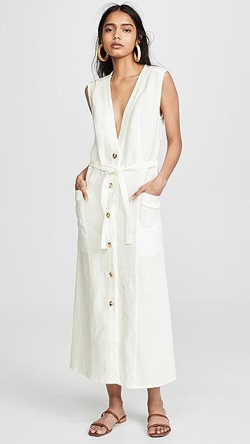 Le Kasha Luxor V 领连衣裙