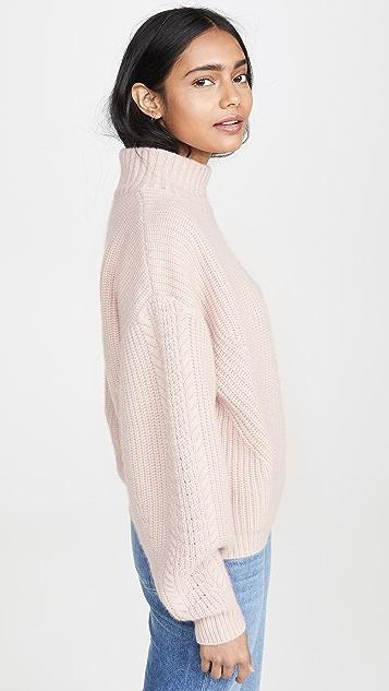 Le Kasha Rennes 超大绞花针织开司米羊绒毛衣
