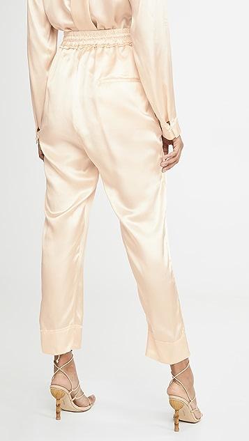 Le Kasha 系结腰部长裤