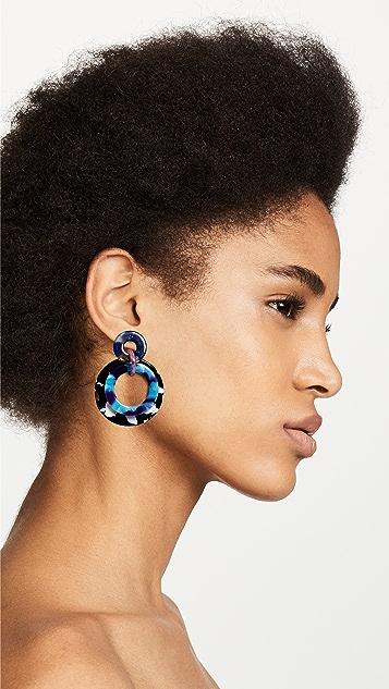 Lele Sadoughi 镶边圈式耳环