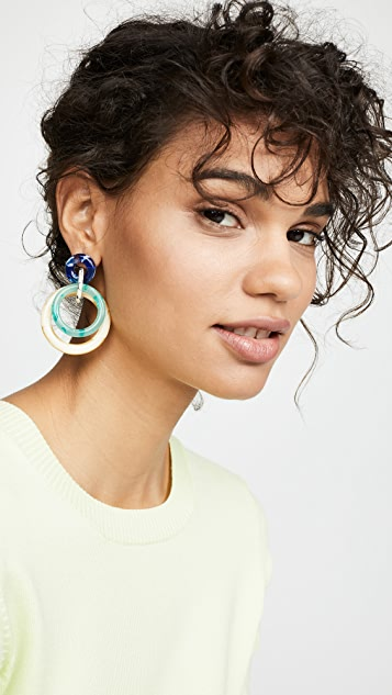 Lele Sadoughi 双环式圈式耳环