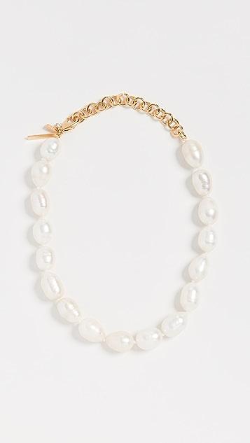Lele Sadoughi 12 英寸巴洛克淡水养殖珍珠项链