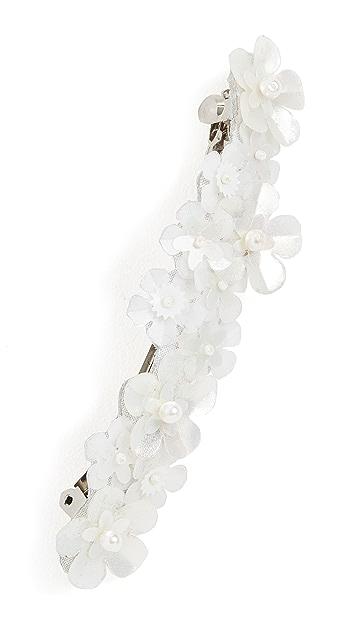 LELET NY 亮片花朵珍珠发夹