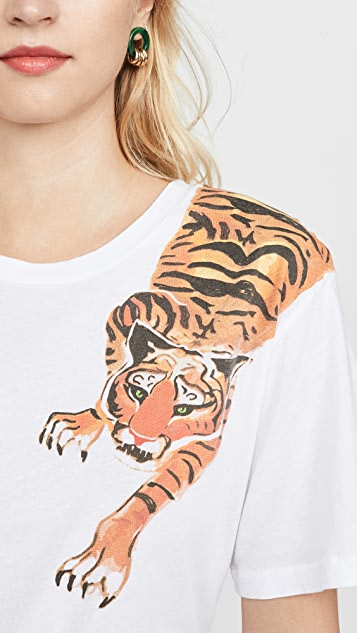 Le Superbe Scratching Tiger T 恤