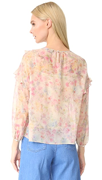 Leur Logette 暗花玫瑰女式衬衫