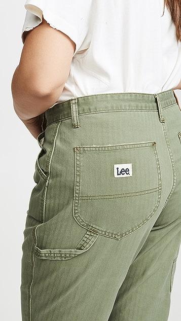 Lee Vintage Modern 高腰工装九分牛仔裤