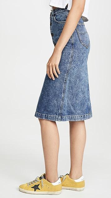 Lee Vintage Modern 高腰中长半身裙