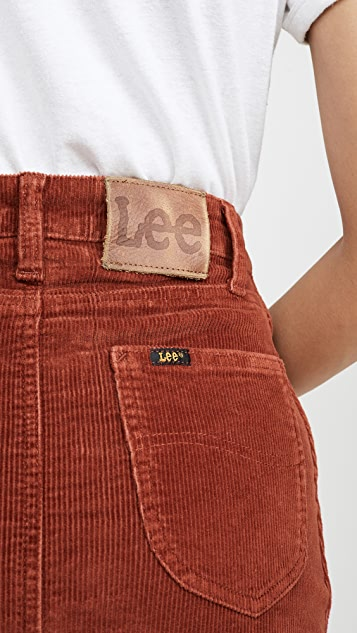 Lee Vintage Modern 灯芯绒高腰中长半身裙