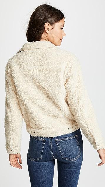 Levi's 整版仿羊羔绒夹克