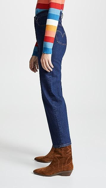 Levi's The Ribcage 直脚牛仔裤