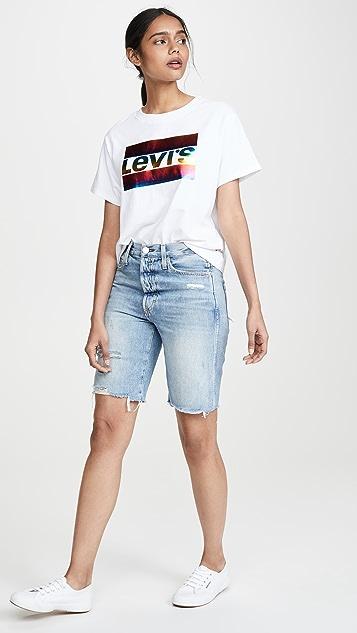 Levi's 图案学院风 T 恤