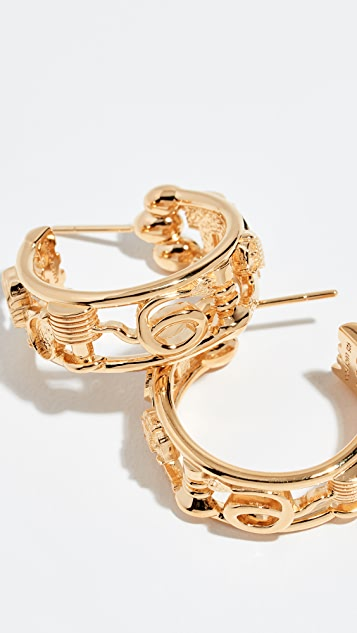 Lucy Folk Sottsass Sphinx 圈式耳环