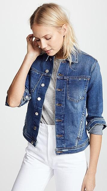 L'AGENCE Celine 紧身款型仿旧夹克