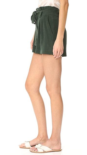 L'AGENCE Alex 纸袋风格短裤