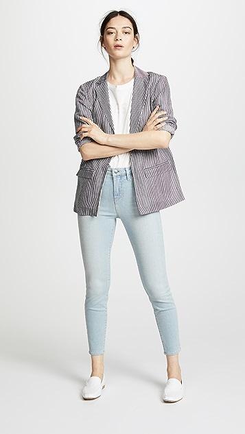L'AGENCE Margot 紧身及踝牛仔裤