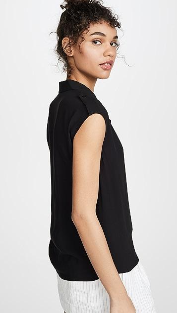 L'AGENCE Farina 无袖女式衬衫