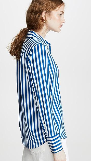 L'AGENCE Brielle 长袖女式衬衫