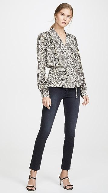 L'AGENCE Cara 裹身女式衬衫