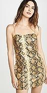 LIKELY Hayley 金色蟒蛇纹连衣裙